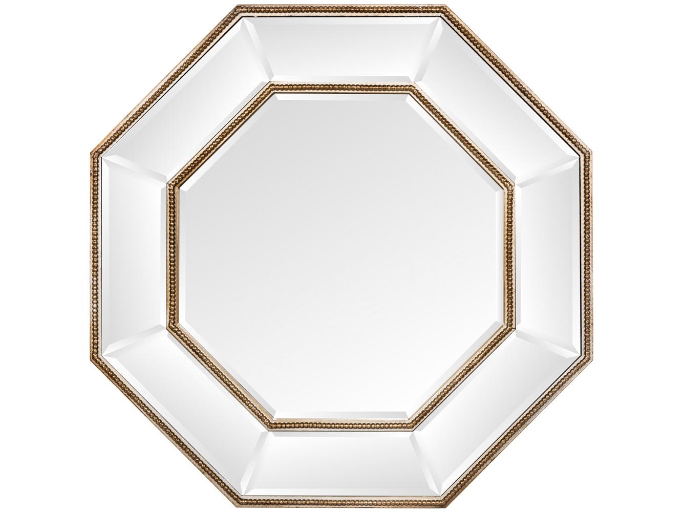 Настенное зеркало «Арлетт»Настенные зеркала<br>Зеркало &amp;quot;Арлетт&amp;quot; обладает симметричной формой. Его рама покрыта зеркальным слоем и отделана цепочкой золотистых бусин. Широкая фацетная грань делает отражение глубоким и объемным. Форма зеркала – октаэдр – означает равновесие и порядок. Толщина зеркального полотна составляет 4 мм. Зеркало обладает идеально ровной поверхностью, не боится влаги.<br><br>Material: МДФ<br>Ширина см: 71.5<br>Высота см: 71.5<br>Глубина см: 5.0