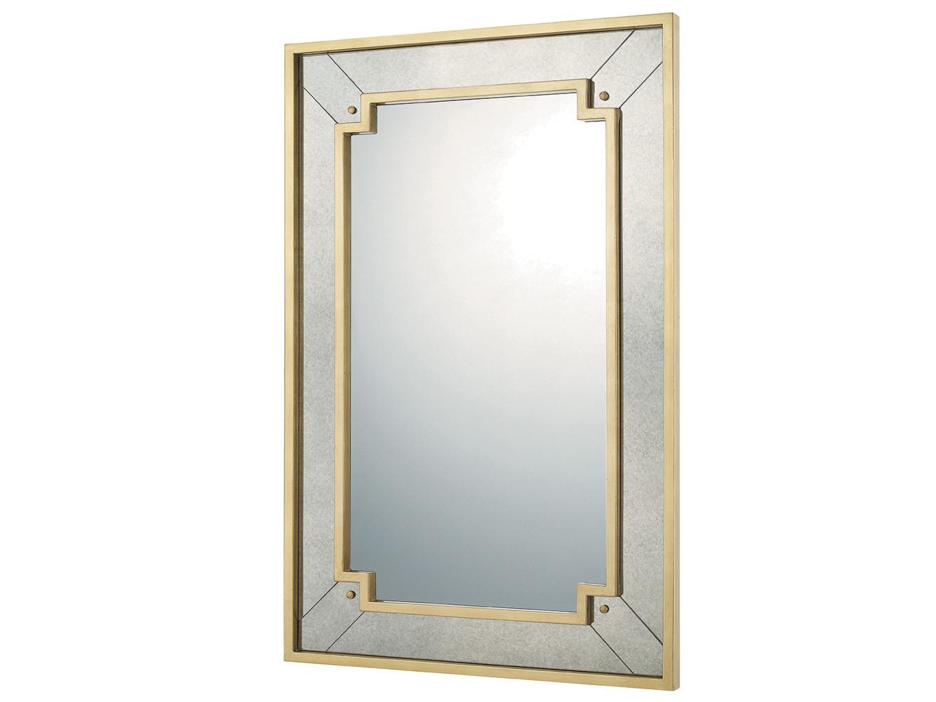 Настенное зеркало «Саттон»Настенные зеркала<br>Любители кельтских интерьеров отметят аристократично строгий орнамент зеркала «Саттон». Знатоки венецианской школы выберут серебристый отблеск рамы, вторящей зеркальному полотну. Матовый золотистый оттенок и безупречная геометрия придутся по вкусу ценителям постмодерна. Рама слегка состарена. Зеркальное полотно покрыто серебряной амальгамой.<br><br>kit: None<br>gender: None