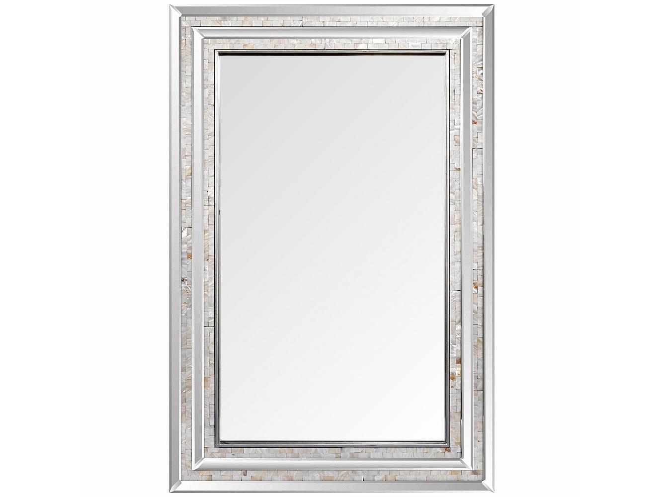 Настенное зеркалоНастенные зеркала<br>Две грани зеркала «Сандерс» покрыты зеркальным слоем, что придает отражению объемность и глубину. Следующие две грани покрыты природным перламутром из натурального верхнего слоя морских раковин. Этот метод престижен благодаря дизайнерскому великолепию и ручному производству. Фацетные грани, опоясавшие периметр зеркала и рамы, переливаются, подобно хрусталю. Основание рамы изготовлено из МДФ.<br><br>Material: МДФ<br>Ширина см: 80.0<br>Высота см: 120.0<br>Глубина см: 3.0