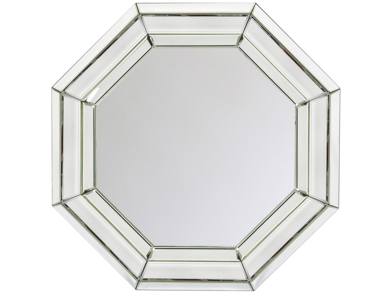 Настенное зеркало «Карсон»Настенные зеркала<br>&amp;quot;Всё гениальное - просто&amp;quot;, - древняя мудрость отразила идеальную формулу сегодняшней интерьерной моды. Опрятную геометричную форму зеркала &amp;quot;Карсон&amp;quot; награждает объемная граненая рама. Зеркальный слой рамы, чутко реагирующий на свет, придает отражениям глубину и объемность. Помимо дизайнерской гармонии, зеркало заряжено позитивным символизмом. Правильный восьмиугольник, или октаэдр, означает равновесие, порядок и созидание. В эпосе октаэдр чтится путеводной звездой и знаком Вечности, в геральдике - символом славы и света.<br><br>Material: МДФ<br>Ширина см: 75.0<br>Высота см: 75.0<br>Глубина см: 6.0