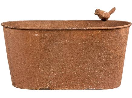 Кашпо сиена (object desire) коричневый 29.5x16.5x14.0 см.