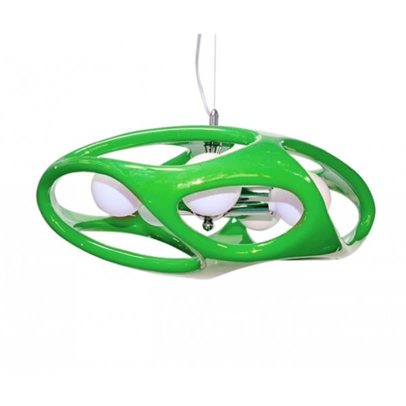 Лампа Timon 60Подвесные светильники<br>Стильная лампа с каркасом из хромированного металла. Выполнена из акрила, представлена в различных цветах.<br>Тип цоколя:E27 3X60W<br>Ламп:E27<br><br>Material: Пластик<br>Ширина см: 120