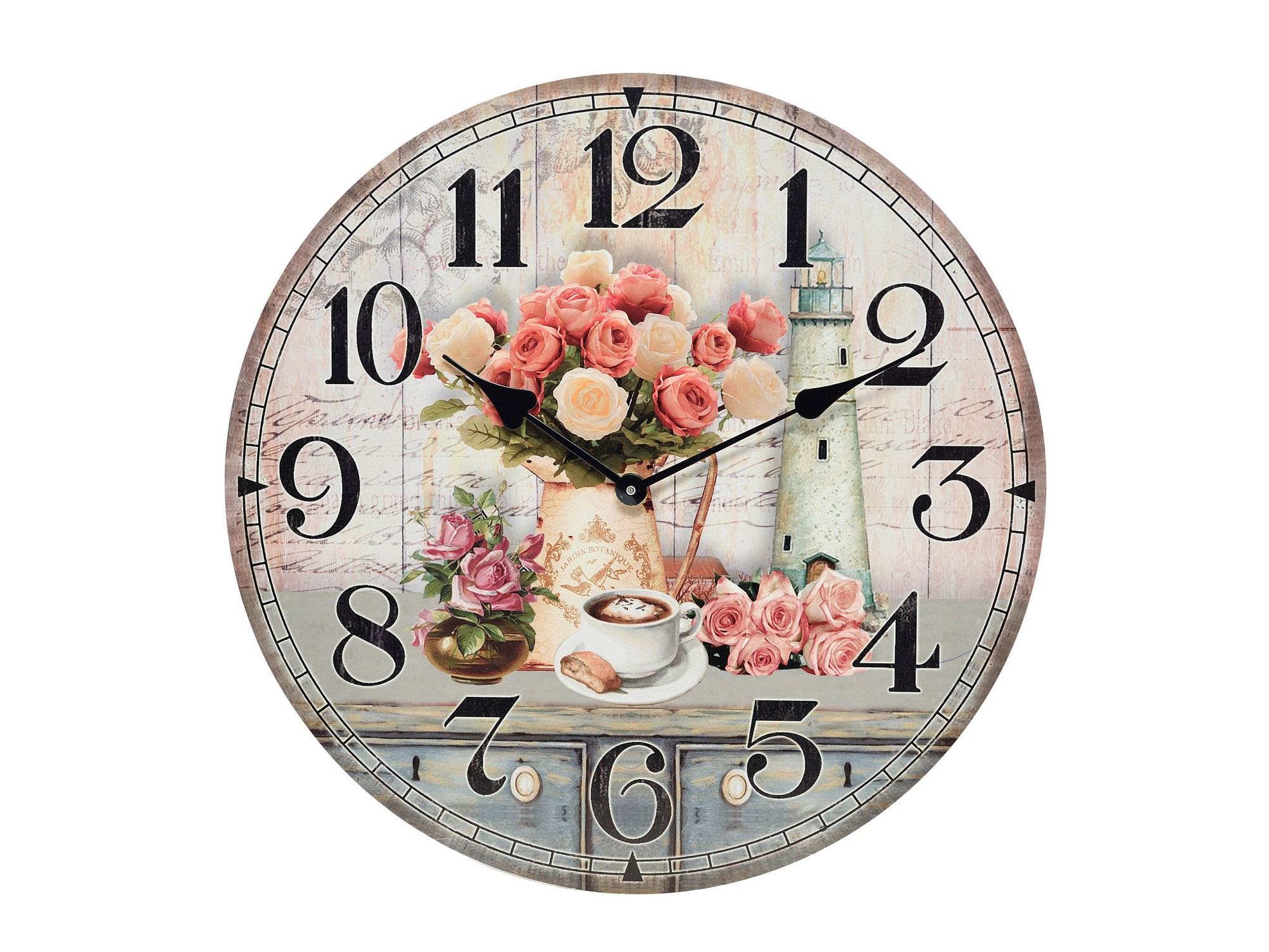 Часы настенные AndresНастенные часы<br>Кварцевый механизм<br><br>Material: МДФ<br>Глубина см: 4.0