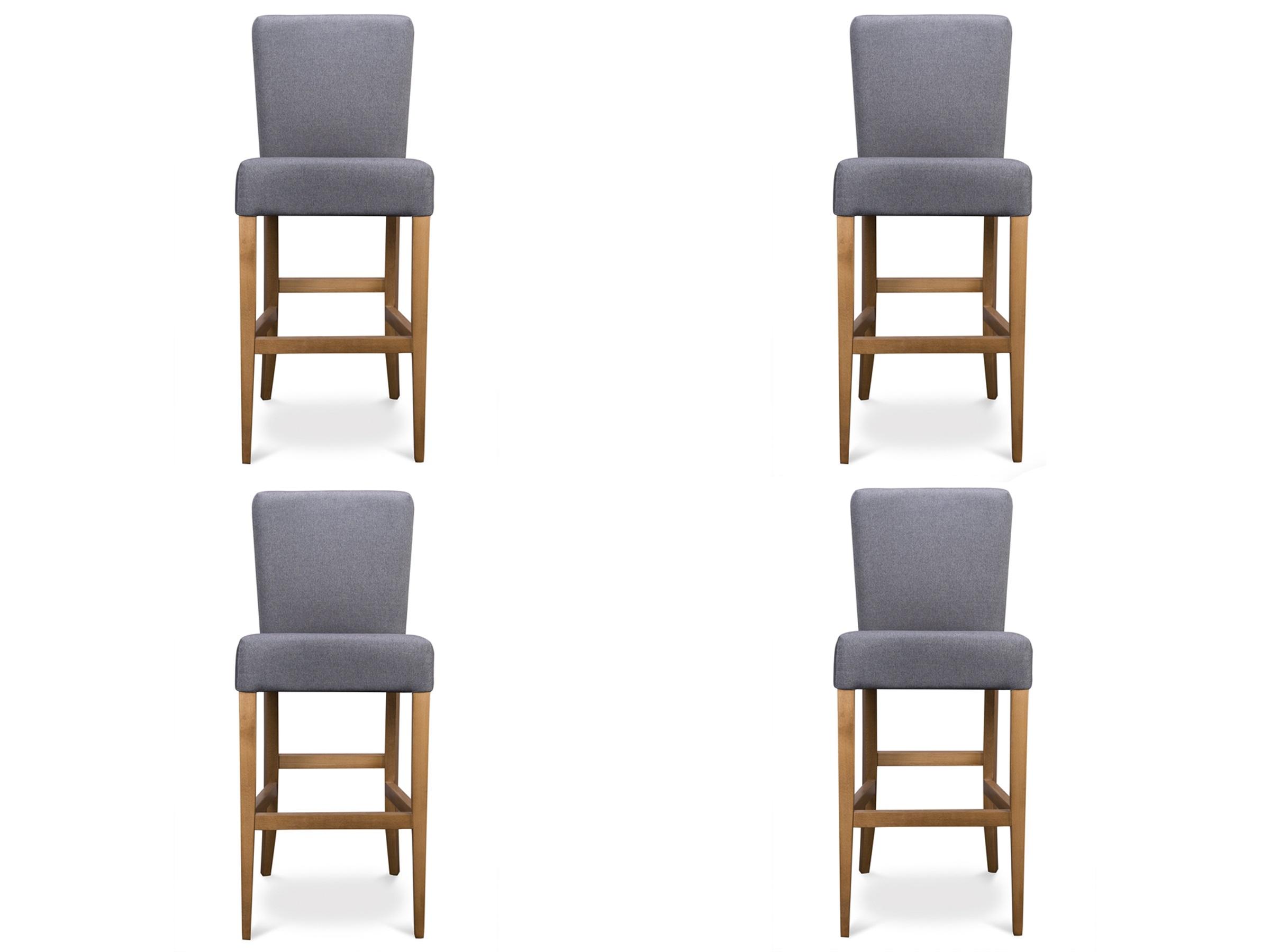 Комплект из 4 стульев PallКомплекты<br>&amp;lt;div&amp;gt;Высота сидения: 80 см.&amp;lt;br&amp;gt;&amp;lt;/div&amp;gt;&amp;lt;div&amp;gt;&amp;lt;br&amp;gt;&amp;lt;/div&amp;gt;<br><br>Material: Текстиль<br>Ширина см: 45<br>Высота см: 116<br>Глубина см: 54