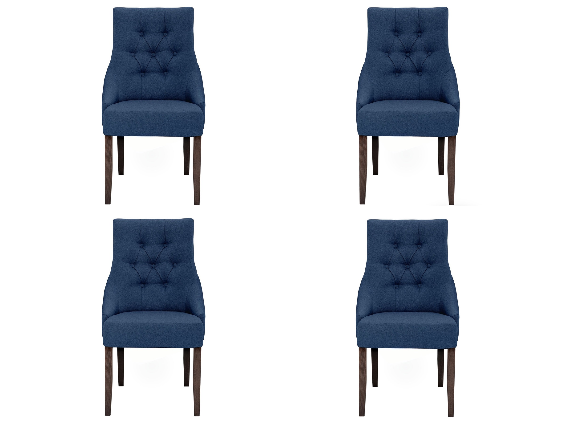 Комплект из 4 стульев classic (myfurnish) синий 52x102x70 см. фото