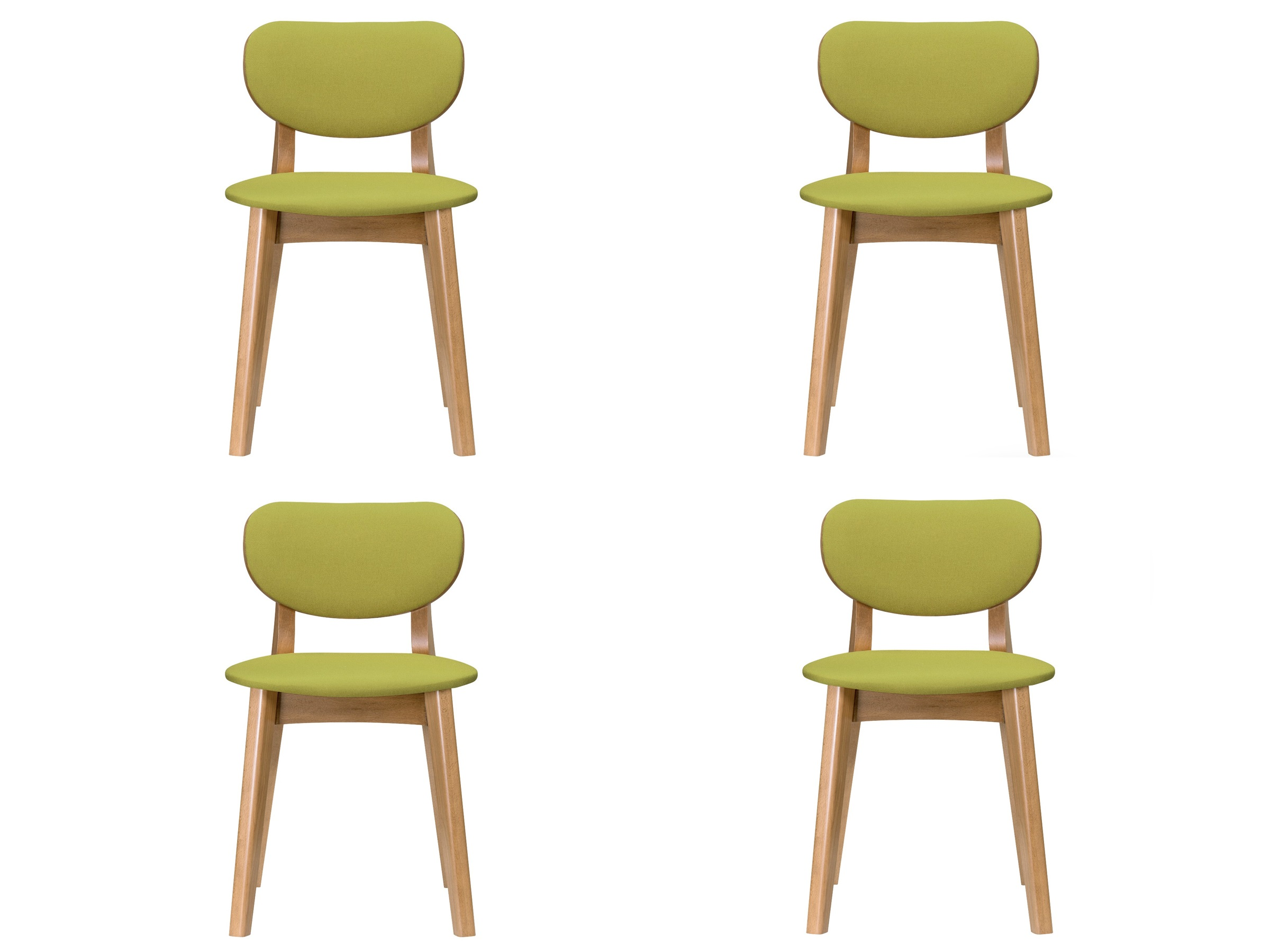 Комплект из 4 стульев xavier (myfurnish) зеленый 45x79x45 см. фото