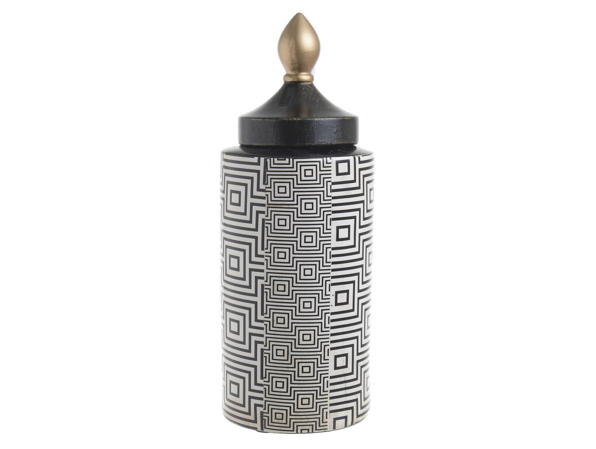 Ваза с крышкой DesmondЕмкости для хранения<br><br><br>Material: Керамика<br>Ширина см: 14.0<br>Высота см: 36.0<br>Глубина см: 14.0