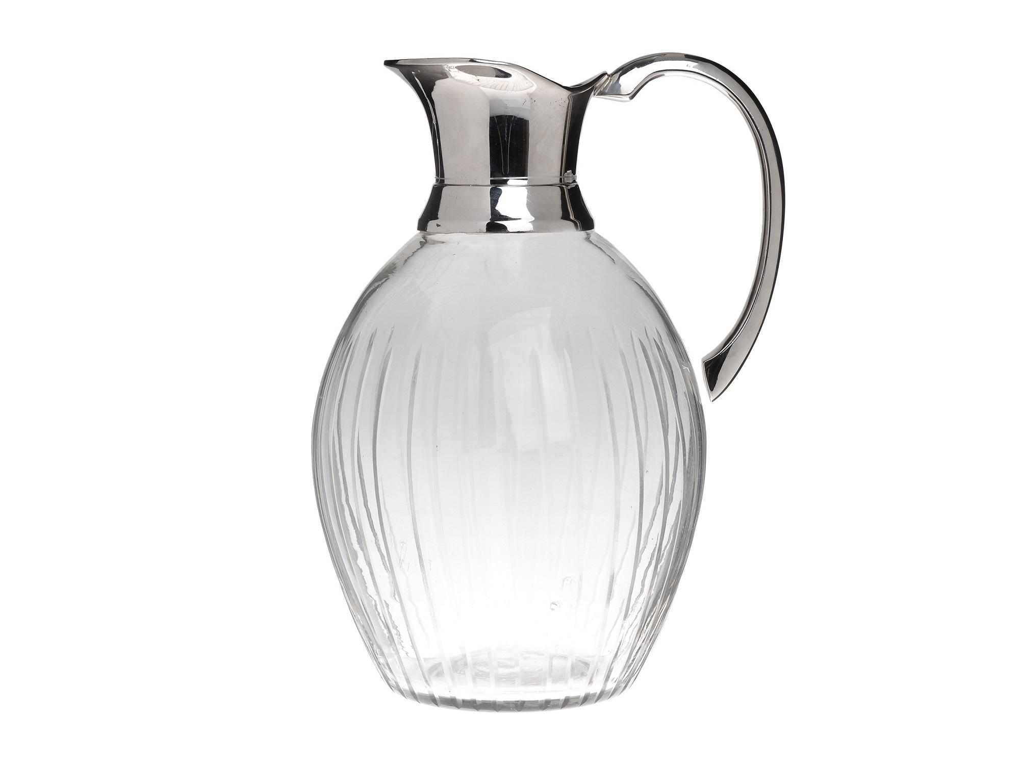 Кувшин TroyКувшины и графины<br>Материал: стекло, металл<br><br>Material: Стекло<br>Ширина см: 22.0<br>Высота см: 30.0<br>Глубина см: 25.0