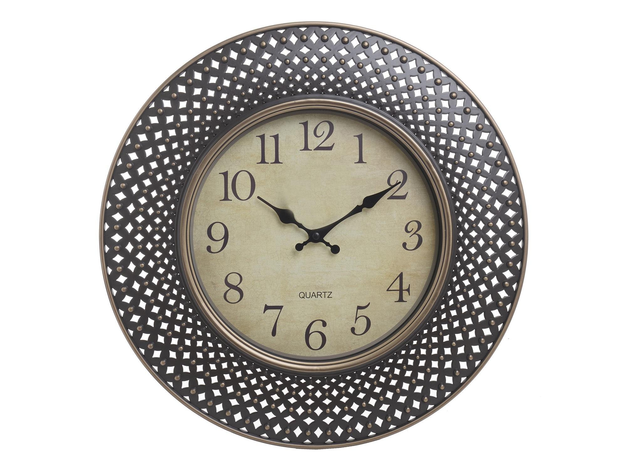 Часы настенные MessiahНастенные часы<br>Кварцевый механизм<br><br>Material: Полистоун<br>Глубина см: 3.5