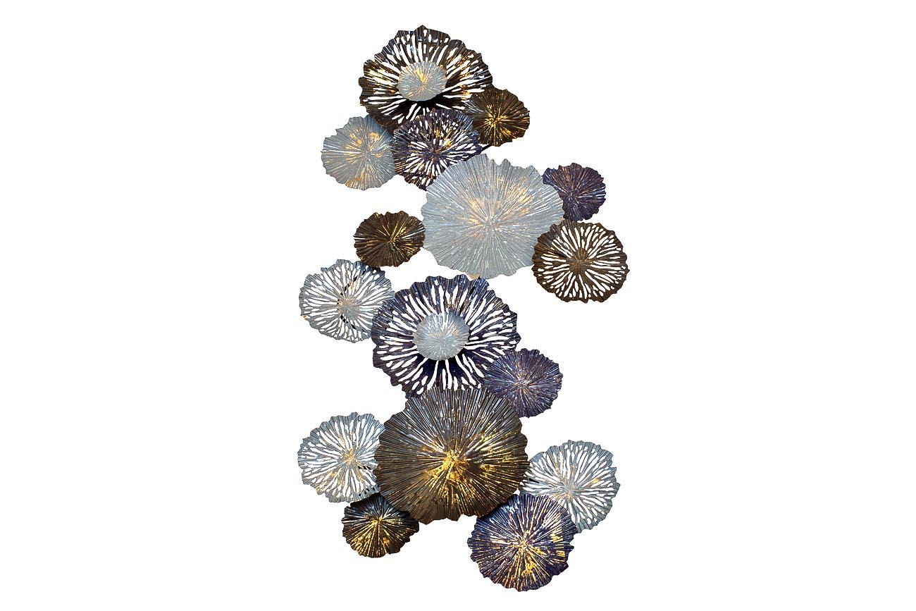 Панно декоративное ЦветыПанно<br><br><br>Material: Металл<br>Ширина см: 134<br>Высота см: 71<br>Глубина см: 8