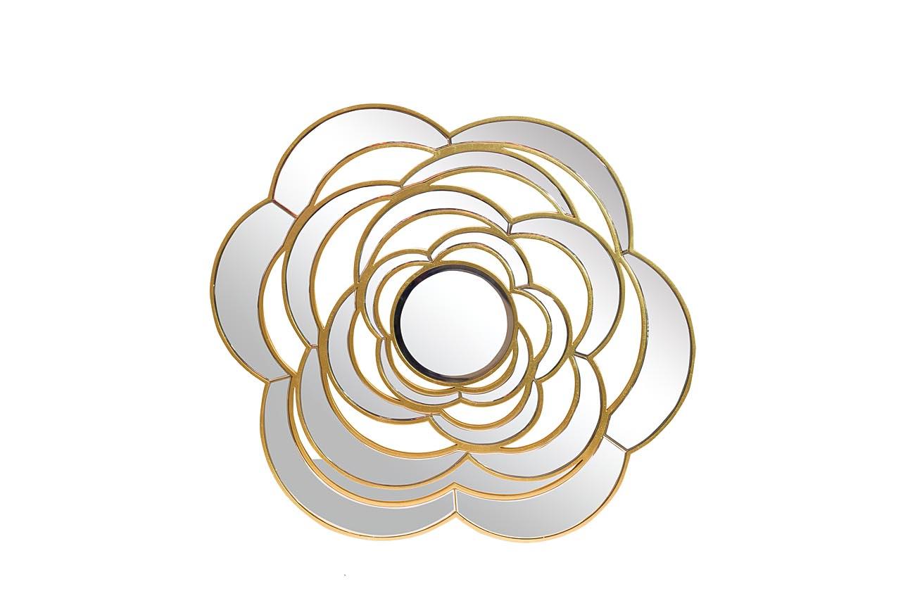 Зеркало декоративное ЦветокНастенные зеркала<br>Центральное зеркало диаметром 29 см.&amp;lt;div&amp;gt;Материал: МДФ, стекло, металлические части.&amp;lt;br&amp;gt;&amp;lt;/div&amp;gt;<br><br>Material: МДФ<br>Ширина см: 115<br>Высота см: 115