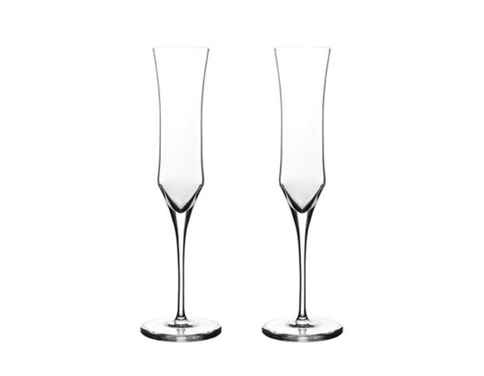 Набор из 2 бокалов для шампанского EnigmaБокалы<br>Европейский хрусталь, Ручное литьё. Вес бокала - 220 гр.<br><br>Material: Хрусталь<br>Высота см: 28.4