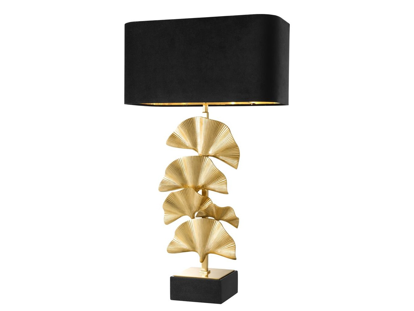 Настольная лампа OlivierДекоративные лампы<br>Настольная лампа Olivier с оригинальным дизайном основания в виде пальмовых листов, выполненных из металла цвета латуни. База из гранита черного цвета. Текстильный черный абажур скрывает лампу.&amp;lt;div&amp;gt;&amp;lt;br&amp;gt;&amp;lt;/div&amp;gt;&amp;lt;div&amp;gt;&amp;lt;div&amp;gt;Вид цоколя: E27&amp;lt;/div&amp;gt;&amp;lt;div&amp;gt;Мощность:&amp;amp;nbsp; 60W&amp;lt;/div&amp;gt;&amp;lt;div&amp;gt;Количество ламп: 1 (нет в комплекте)&amp;lt;/div&amp;gt;&amp;lt;/div&amp;gt;<br><br>Material: Текстиль<br>Ширина см: 45.0<br>Высота см: 78.0<br>Глубина см: 23.0
