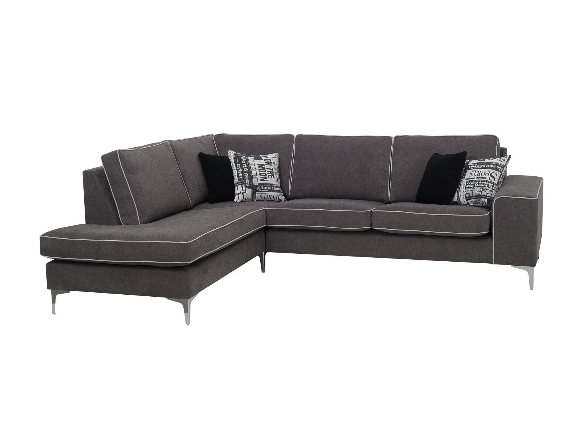Угловой диван ХарстадУгловые диваны<br>Угловой диван Харстад оригинальный и удобный. Его мягкие подушки спинки и плотные подушки сидения делают отдых на диване комфортным. На широком подлокотнике можно расположить ноутбук  или планшет. Не разбирается. Угол можно выбрать самому (угол определяется сидя на диване).&amp;amp;nbsp;&amp;lt;div&amp;gt;&amp;lt;br&amp;gt;&amp;lt;/div&amp;gt;&amp;lt;div&amp;gt;Каркас (комбинации дерева, фанеры и ЛДСП). Для сидячих подушек используют пену различной плотности, а также перо и силиконовое волокно. Для задних подушек есть пять видов наполнения: пена, измельченная пена, пена высокой эластичности, силиконовые волокно.&amp;amp;nbsp;&amp;lt;/div&amp;gt;&amp;lt;div&amp;gt;Материал обивки: Шенилл. Состав: 90% полиэстер, 10% полиамид.&amp;lt;/div&amp;gt;<br><br>Material: Текстиль<br>Ширина см: 268.0<br>Высота см: 85.0<br>Глубина см: 214.0