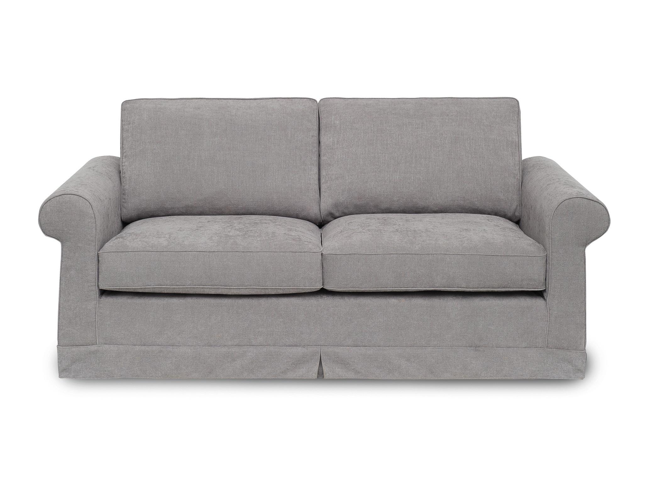 Диван РаумаДвухместные диваны<br>Выверенные временем гордые линии классического английского стиля нашли свое воплощение в семействе диванов Раума. 2,5-местный диван с декоративной юбкой, скрывающей ножки. Не разбирается. <br>Каркас (комбинации дерева, фанеры и ЛДСП). Для сидячих подушек используют пену различной плотности, а также перо и силиконовое волокно. Для задних подушек есть пять видов наполнения: пена, измельченая пена, пена высокой эластичности, силиконовые волокно. <br>Материал обивки: Шенилл. Состав: 85% полиэстер, 15% вискоза.<br><br><br><br>kit: None<br>gender: None