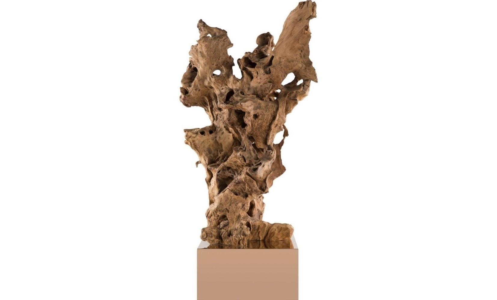 Декор BurlwoodДругое<br>Такой декор наполнит запахом древнего леса друидов даже ледяные формы хай-тека и минимализма. Поставьте Burlwood на видное место гостиной и, помимо аутентичной красоты, Вы получите возможность изучать ассоциативное мышление своих гостей.Материал и отделка: дерево, металл.<br><br>kit: None<br>gender: None