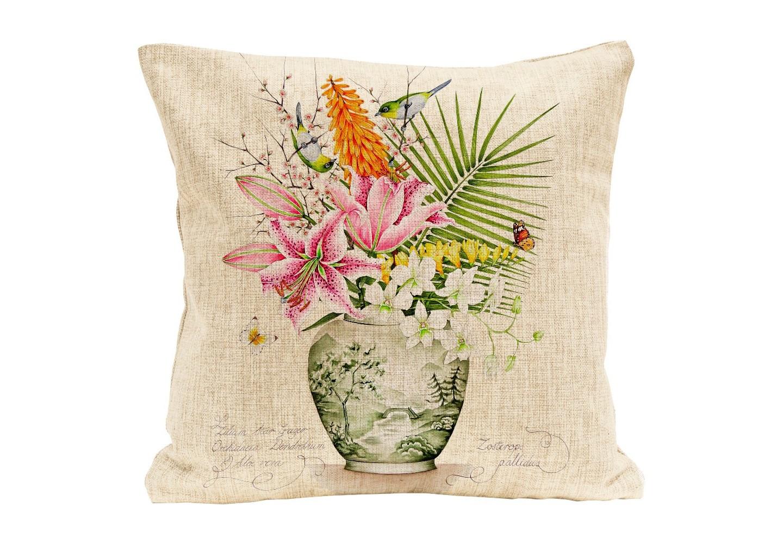 """Купить Интерьерная подушка """"поющие в терновнике"""" (Object desire)  текстиль 45x45 см. 80116 в интернет магазине. Цены, фото, описания, характеристики, отзывы, обзоры"""
