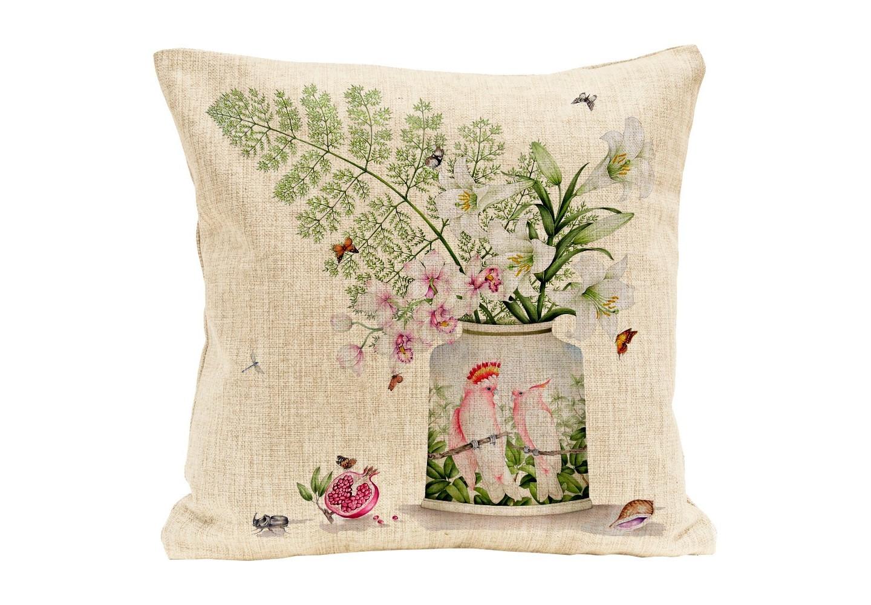 Интерьерная подушка Влюбленные друг в другаКвадратные подушки и наволочки<br>Мягкая натуральная ткань, воздушный наполнитель, пышный цветочный натюрморт, - подушка &amp;quot;Влюбленные друг в друга&amp;quot; откликается на любые условия эргономичного отдыха. Органичным «обрамлением» цветочной темы представляются великолепные цветочные вазы делфтской керамики. Подушка изготовлена из смеси льна и хлопка. Высокая плотность ткани обеспечит не только дополнительную мягкость, но и максимальную долговечность аксессуара.&amp;lt;div&amp;gt;&amp;lt;br&amp;gt;&amp;lt;/div&amp;gt;&amp;lt;div&amp;gt;&amp;lt;div style=&amp;quot;font-size: 14px;&amp;quot;&amp;gt;Материал: лен, хлопок.&amp;lt;/div&amp;gt;&amp;lt;div style=&amp;quot;font-size: 14px;&amp;quot;&amp;gt;&amp;lt;br&amp;gt;&amp;lt;/div&amp;gt;&amp;lt;/div&amp;gt;<br><br>Material: Лен<br>Ширина см: 45.0<br>Высота см: 45.0