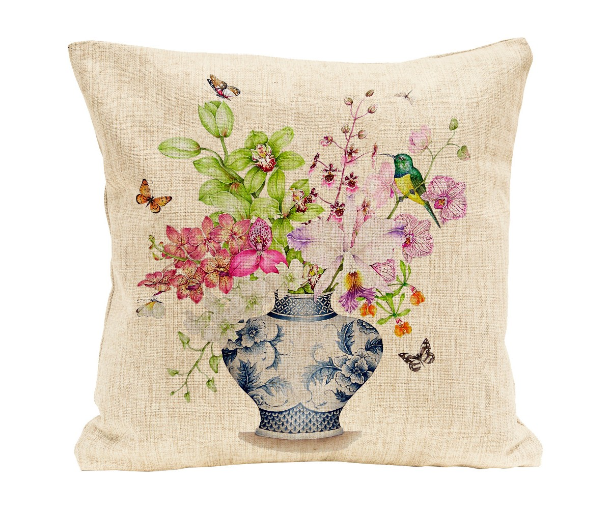 Интерьерная подушка цвет лайма и фуксии (object desire) мультиколор 45.0x45.0 см. фото