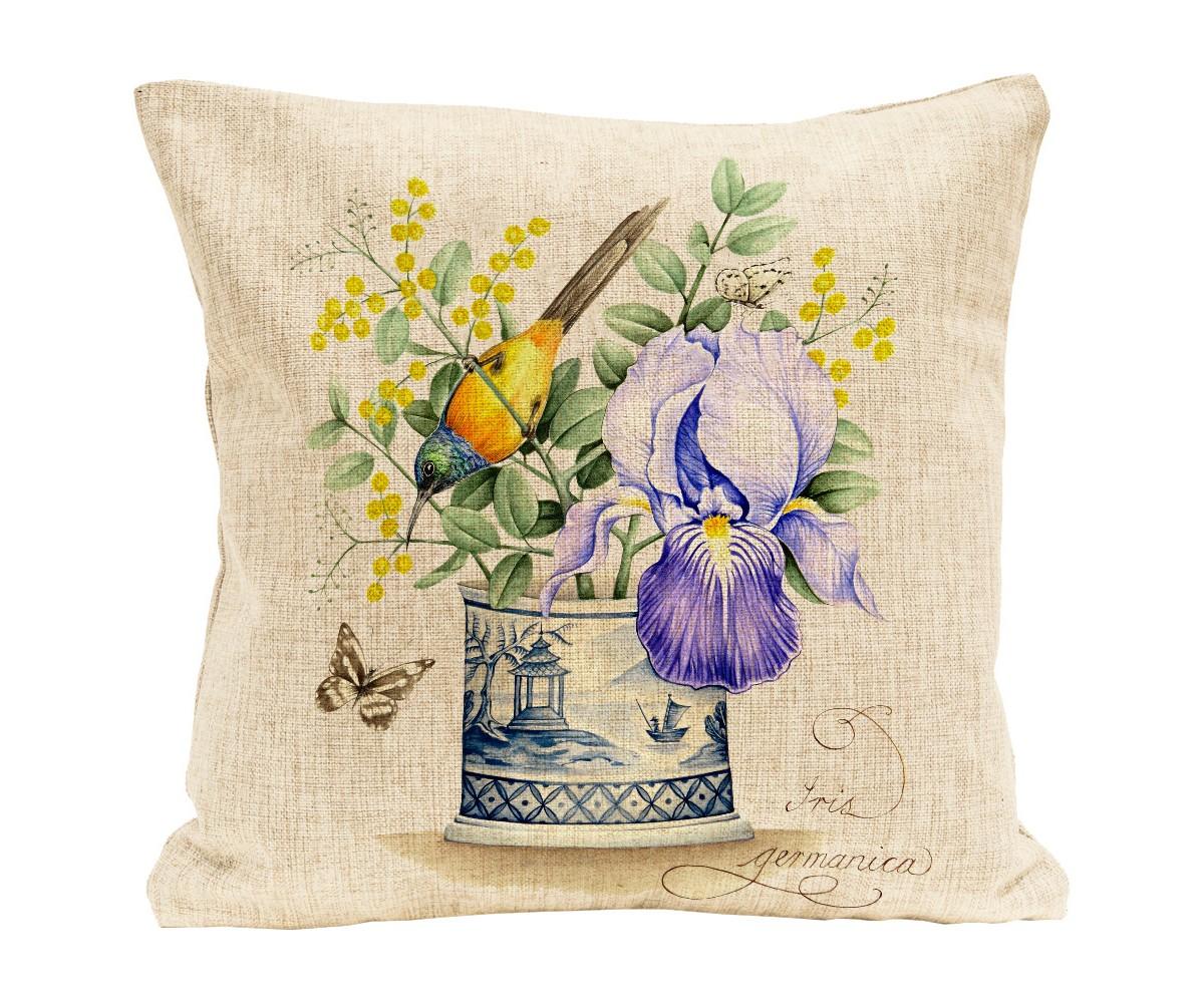 Купить Интерьерная подушка Синий ирис , Object Desire