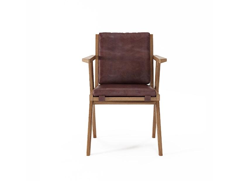 Кресло рабочее TributeИнтерьерные кресла<br>Красота, как известно, главная спасительница мира. А ещё, мы думаем, она – хранительница домашнего уюта. И поэтому рады делиться этой красотой с вами. В её поисках наши агенты без устали исследуют мебельные фабрики и творческие мастерские по всему миру. И отбирают только лучшее. При этом не просто красивое, но и идеально качественное, удобное, функциональное, созданное вручную из натуральных материалов. Это непростой труд, но наградой за него служит то удовольствие, с которым наши покупатели пользуются приобретёнными у нас предметами интерьера и мебелью.&amp;lt;div&amp;gt;&amp;lt;br&amp;gt;&amp;lt;/div&amp;gt;&amp;lt;div&amp;gt;Материал: массив тика, буйволиная кожа&amp;lt;/div&amp;gt;<br><br>Material: Кожа<br>Ширина см: 56<br>Высота см: 82<br>Глубина см: 59