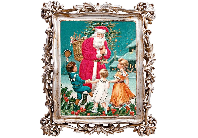 Картина С Новым годом!Новогодний декор<br>Картинные рамы обретают смысл не только тогда, когда они идеально вписываются в интерьер. Не менее важным для рамы становится логический и стилистический диалог с картиной, которую эта рама опекает. Пышный кружевной узор идеален для рождественского сюжета, а нежный платиновый оттенок рамы обещает войти в любой интерьерный фон. Рождественская картина, акцентированная благородной дворцовой оправой,  готова оживить любой скучающий уголок Вашего интерьера. &amp;lt;div&amp;gt;&amp;lt;br&amp;gt;&amp;lt;/div&amp;gt;&amp;lt;div&amp;gt;Материал: рама - полистоун, защитное стекло, оборотная сторона - бархатный полиэстер.&amp;lt;br&amp;gt;&amp;lt;/div&amp;gt;<br><br>Material: Полистоун<br>Ширина см: 30.0<br>Высота см: 35.0<br>Глубина см: 2