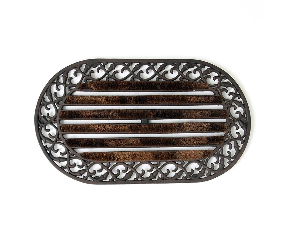 Придверный коврикОвальные ковры<br>Материал: железо литое, нейлон.<br><br>Material: Железо<br>Ширина см: 75.0<br>Высота см: 2.0<br>Глубина см: 40.0