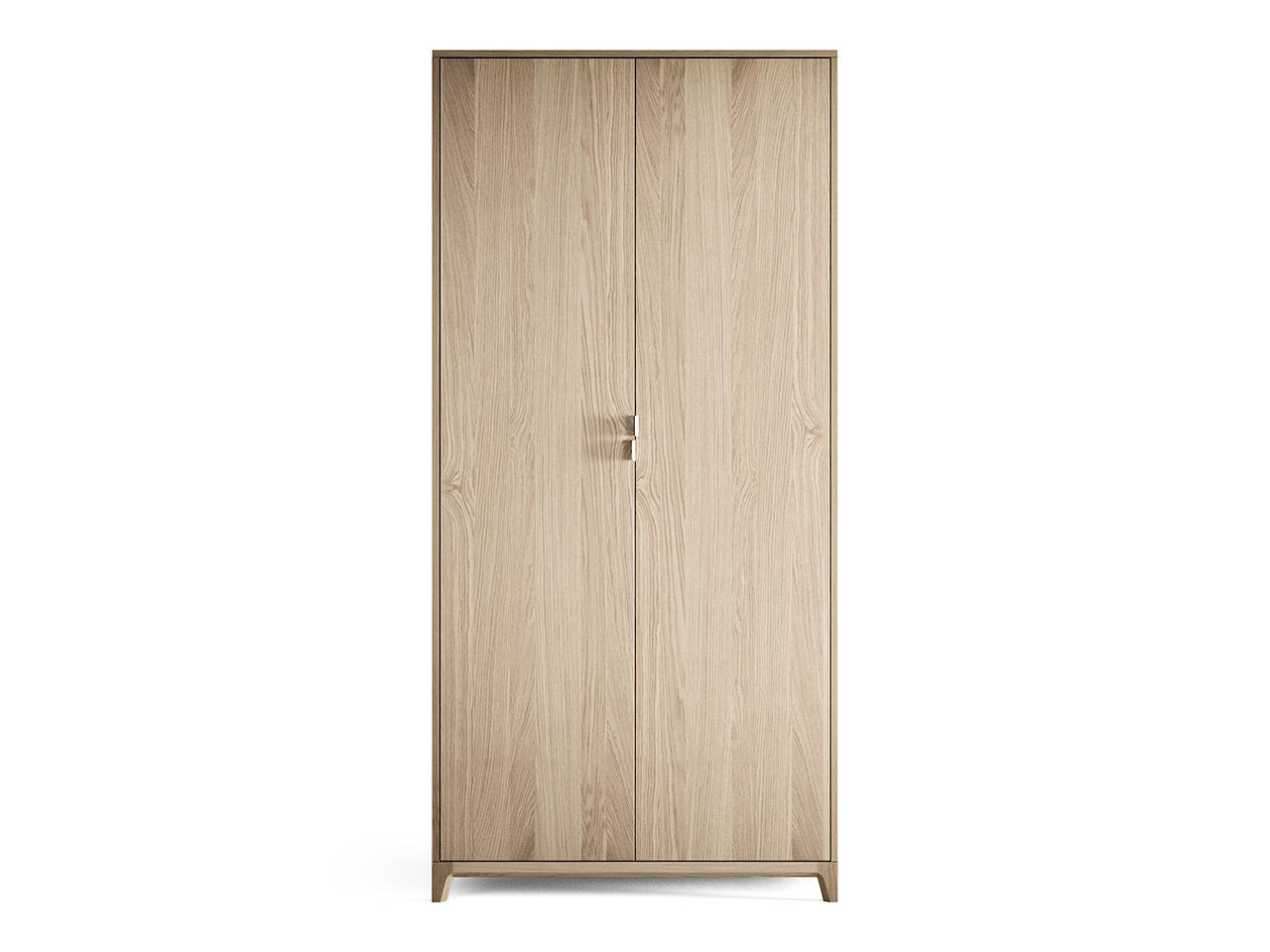 Шкаф Case №3 (осветленный)Платяные шкафы<br>Компактный шкаф CASE №3 сочетает в себе продуманную структуру и современный дизайн впишется даже в самое небольшое уютное помещение. Внутри комфортно расположены полки и штанги длявешалок, сплошная перфорация позволяет устанавливать полки в удобном положении.Материал: массив дуба, МДФ, ДСП, эмаль, лак<br><br>kit: None<br>gender: None
