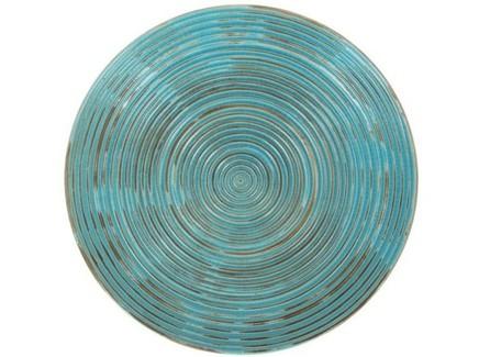 Декоративное блюдо (farol) голубой 40x6.0x40 см.