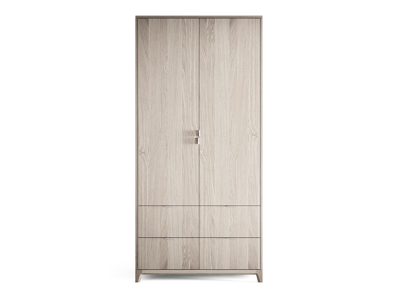 Шкаф Case №4 (беленый)Платяные шкафы<br>Компактный шкаф CASE №4 сочетает в себе продуманную структуру и современный дизайн впишется даже в самое небольшое уютное помещение.В новом варианте предлагаются ящики с внешними фасадами, а также обновленное наполнение шкафов. Внутри комфортно расположены полки и штанги для вешалок, сплошная перфорация позволяет устанавливать полки в удобном положении.<br><br>Material: Дуб<br>Ширина см: 100.0<br>Высота см: 210.0<br>Глубина см: 60.0