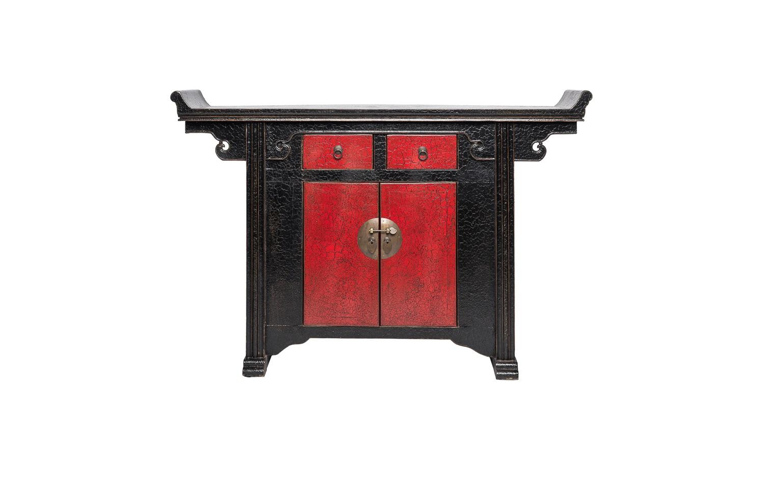 Комод Гуй-джяИнтерьерные тумбы<br>&amp;quot;Гуй-джя&amp;quot; ? комод, в облике которого заключено величие старинной китайской мебели. Его оформление имитирует декор предметов интерьера периода раннего правления династии Мин. Изысканная резьба, украшающая столешницу, выполнена в форме жезла жуи, способного приманить в дом сказочную удачу. Этот комод&amp;amp;nbsp;не просто&amp;amp;nbsp;станет изюминкой пространства, он подарит вам счастье.<br><br>Material: Дерево<br>Ширина см: 130<br>Высота см: 90<br>Глубина см: 35