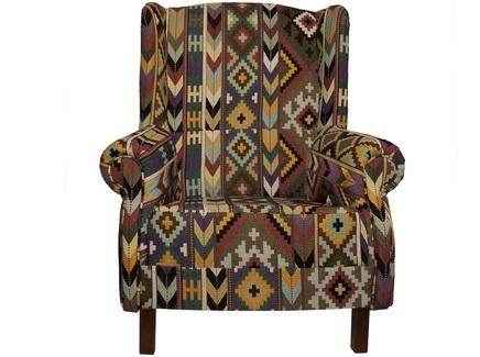 Кресло в африканском стиле (la neige) мультиколор 87.0x100.0x88.0 см.