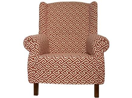 Кресло в стиле арт-деко (la neige) красный 87.0x100.0x88.0 см.
