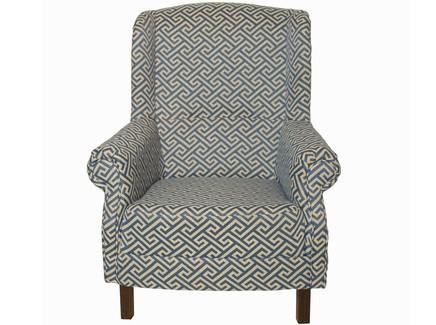 Кресло в стиле арт-деко (la neige) синий 87.0x100.0x88.0 см.