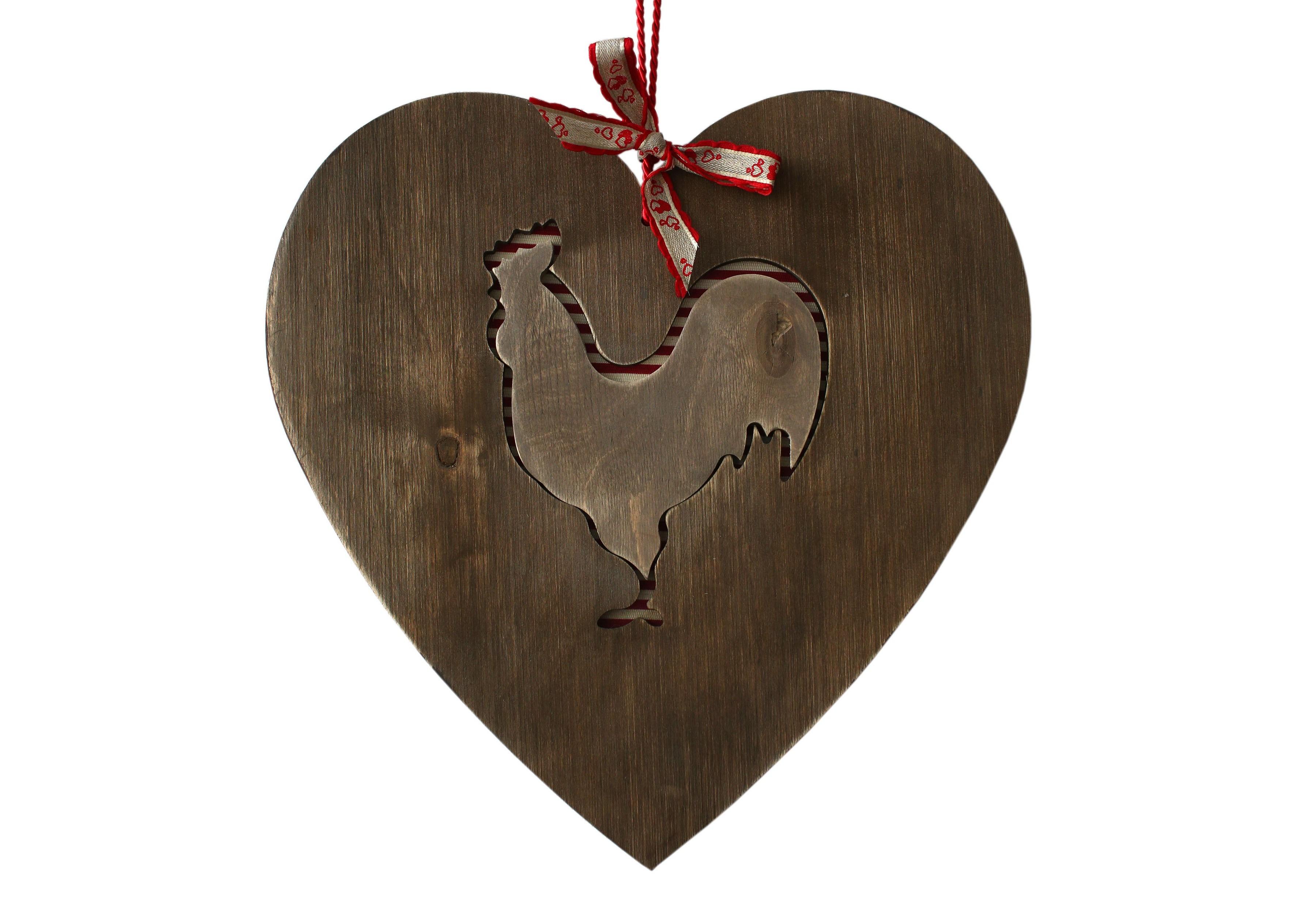 Декоративная разделочная доска Петух - сердце провансаПодставки и доски<br>Декоративная разделочная деревянная доска &amp;quot;Петух  -сердце Прованса&amp;quot;, оригинальный подарок на кухню, на Новый Год и Рождество со вставкой -100% хлопок,  клетка или полоска. Внутренний деревянный петушок используется как подставка под горячее.<br><br>Material: Дерево<br>Ширина см: 36.0<br>Высота см: 36.0<br>Глубина см: 1.1