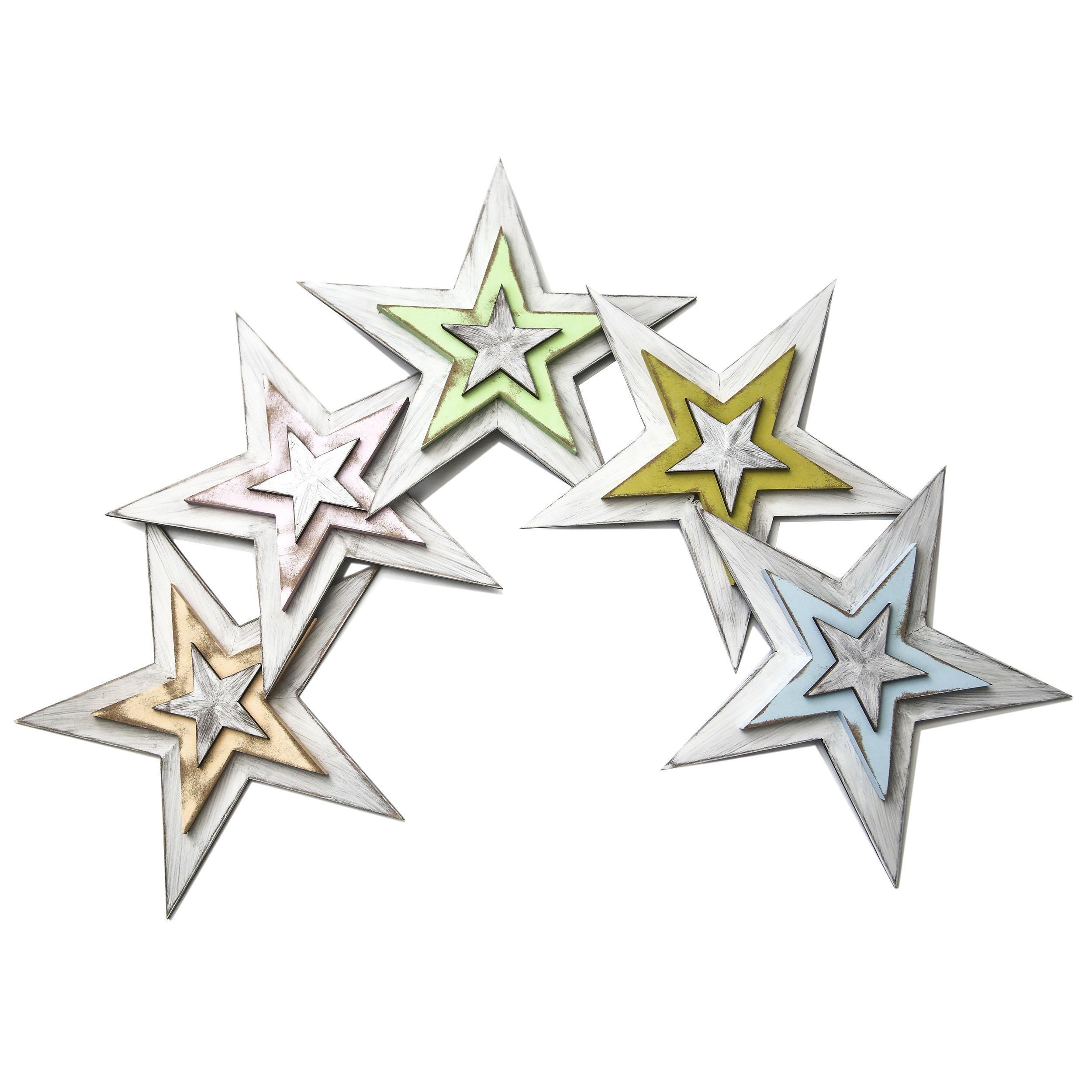 Панно настенное Северное сияниеДругое<br>Набор из 5 предметов: декор настенный деревянный из 5 звезд &amp;quot;Северное сияние&amp;quot;.&amp;lt;div&amp;gt;Материал: многослойная фанера хвойных пород дерева.&amp;lt;br&amp;gt;&amp;lt;/div&amp;gt;<br><br>Material: Дерево<br>Ширина см: 48.0<br>Высота см: 48.0<br>Глубина см: 3.5