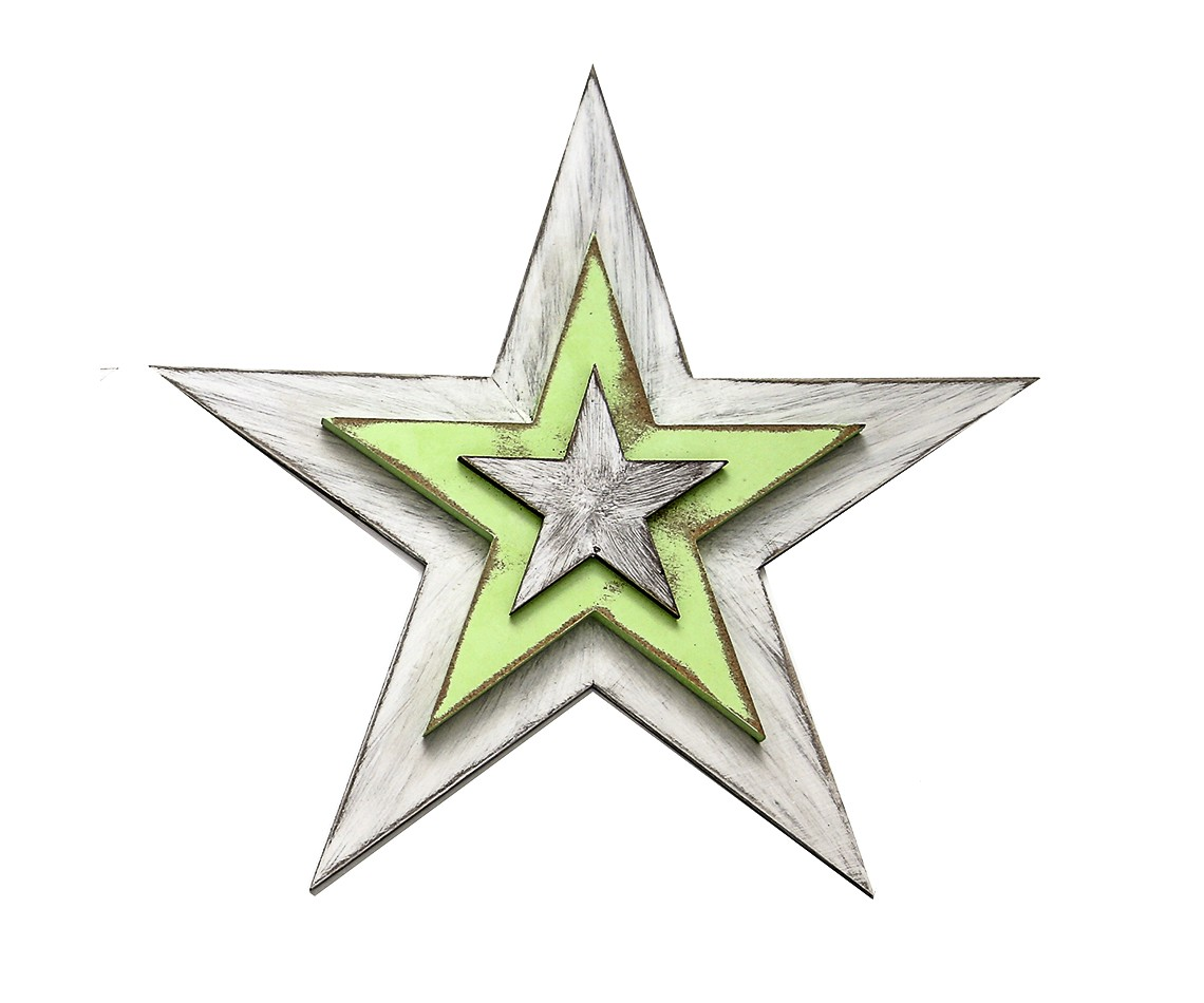 Панно настенное ЗвездаДругое<br>Декор настенный деревянный &amp;quot;Рождественская звезда&amp;quot;, цвет белый с зеленым.&amp;lt;div&amp;gt;Материал: многослойная фанера хвойных пород дерева.&amp;lt;br&amp;gt;&amp;lt;/div&amp;gt;<br><br>Material: Дерево<br>Ширина см: 48.0<br>Высота см: 48.0<br>Глубина см: 3.5