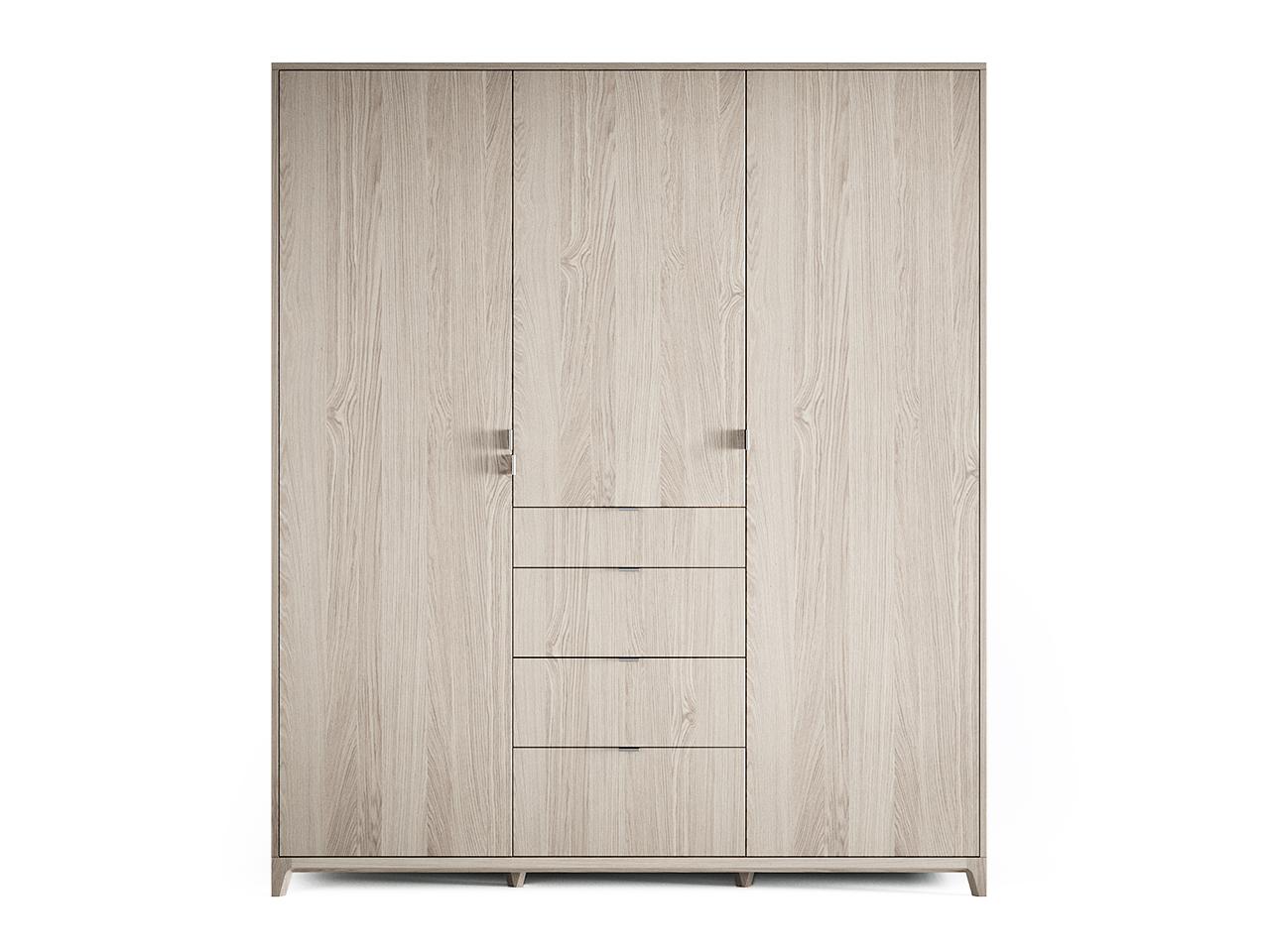 Шкаф Case №2 (беленый)Платяные шкафы<br>Еще более вместительный, прочный и удобный шкаф CASE №2 сочетает в себе продуманную структуру и современный дизайн.В новом варианте предлагаются ящики с внешними фасадами, а также обновленное наполнение шкафов. Внутри комфортно расположены полки и штанги для вешалок, сплошная перфорация позволяет устанавливать полки в удобном положении,предусмотрено два возможных положения штанг (для хранения длинных вещей / для большего количества вещей). В комплекте поставляется дополнительная полка и дополнительная штанга для вешалок.&amp;lt;div&amp;gt;&amp;lt;br&amp;gt;&amp;lt;/div&amp;gt;&amp;lt;div&amp;gt;Материал: Массив дуба, натуральный шпон дуба, МДФ, ДСП, лак&amp;lt;br&amp;gt;&amp;lt;/div&amp;gt;<br><br>Material: Дуб<br>Ширина см: 180.0<br>Высота см: 210.0<br>Глубина см: 60.0