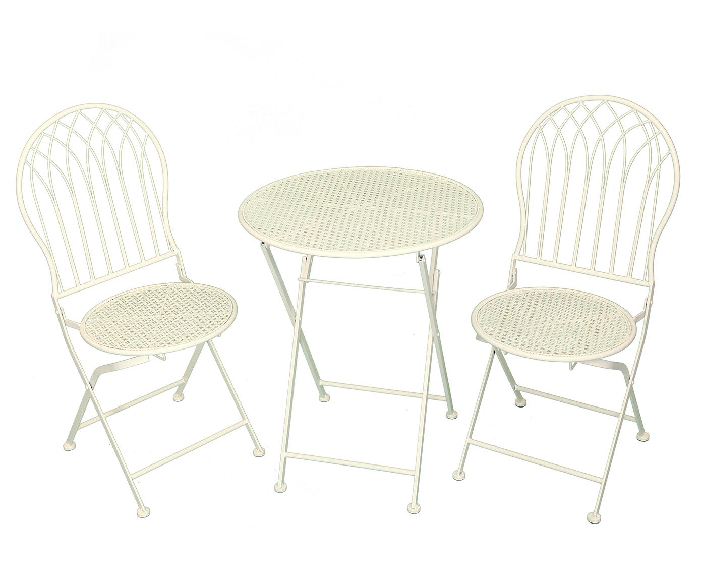 Комплект стол и стулья (2шт. )Комплекты уличной мебели<br>Стол ?60x70 см, стулья ?40x43x95 см.<br><br>Material: Металл<br>Ширина см: 60.0<br>Высота см: 95.0<br>Глубина см: 70.0