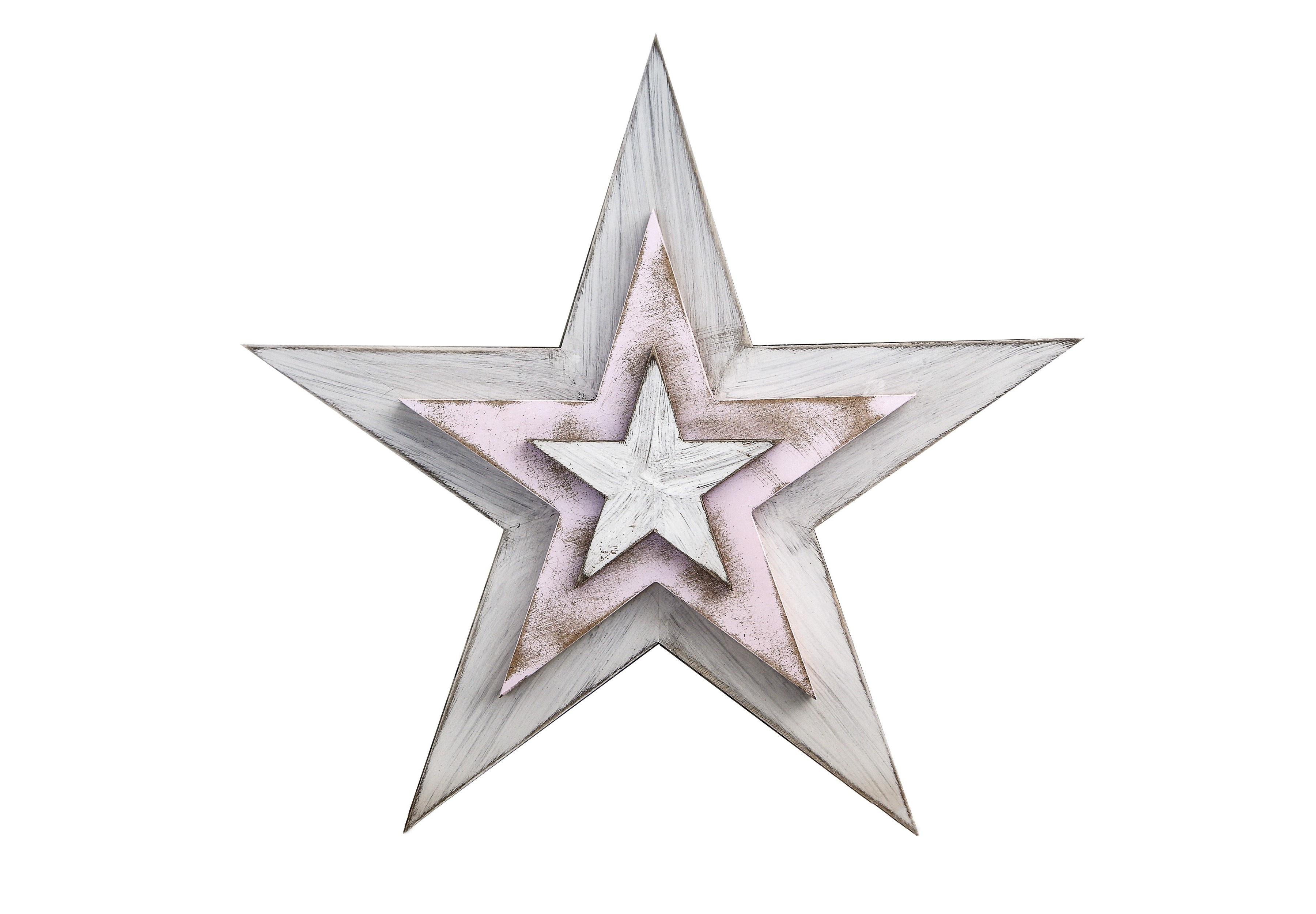Панно настенное ЗвездаДругое<br>Декор настенный деревянный &amp;quot;Рождественская звезда&amp;quot; , цвет белый с розовым.&amp;lt;div&amp;gt;Материал: многослойная фанера хвойных пород дерева.&amp;lt;br&amp;gt;&amp;lt;/div&amp;gt;<br><br>Material: Дерево<br>Ширина см: 48.0<br>Высота см: 48.0<br>Глубина см: 3.5