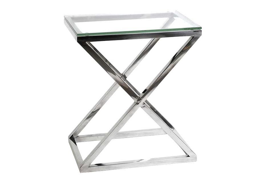 Приставной стол ayser (zmebel) серебристый 62x72x42 см.