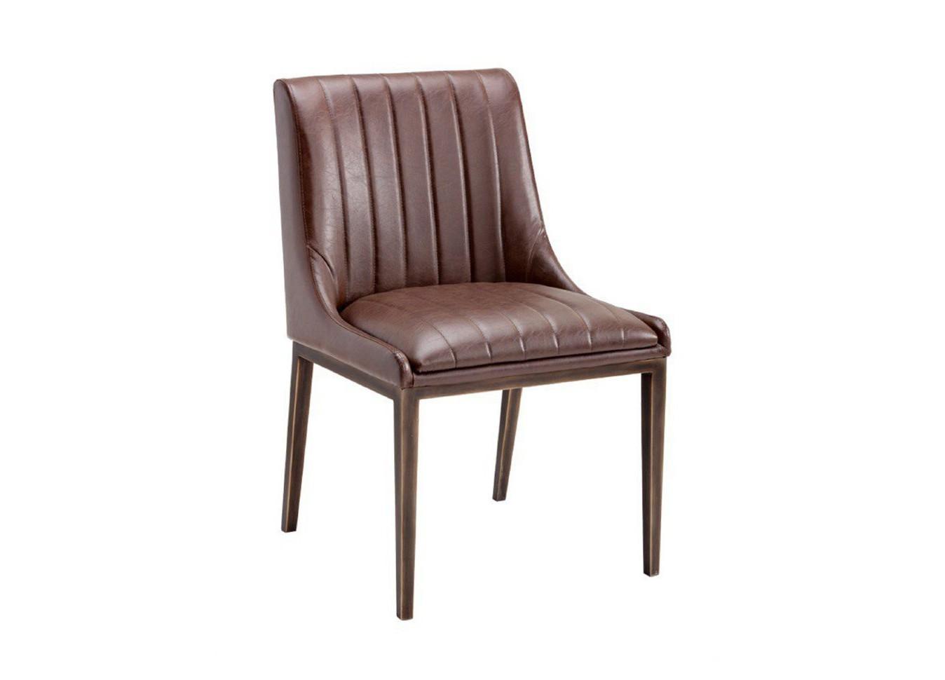 Стул Boston CoastОбеденные стулья<br>Модель представлена в коже высочайшего качества. Для этого стула мы также можем подобрать кожу на Ваш вкус из других коллекций. Каркас и ножки кресла выполнены из дуба.