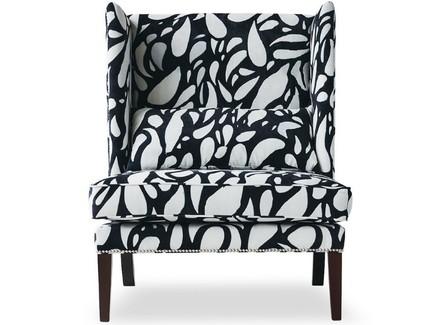 Кресло zebra by ali gulec (icon designe) черный 78x105x81 см.