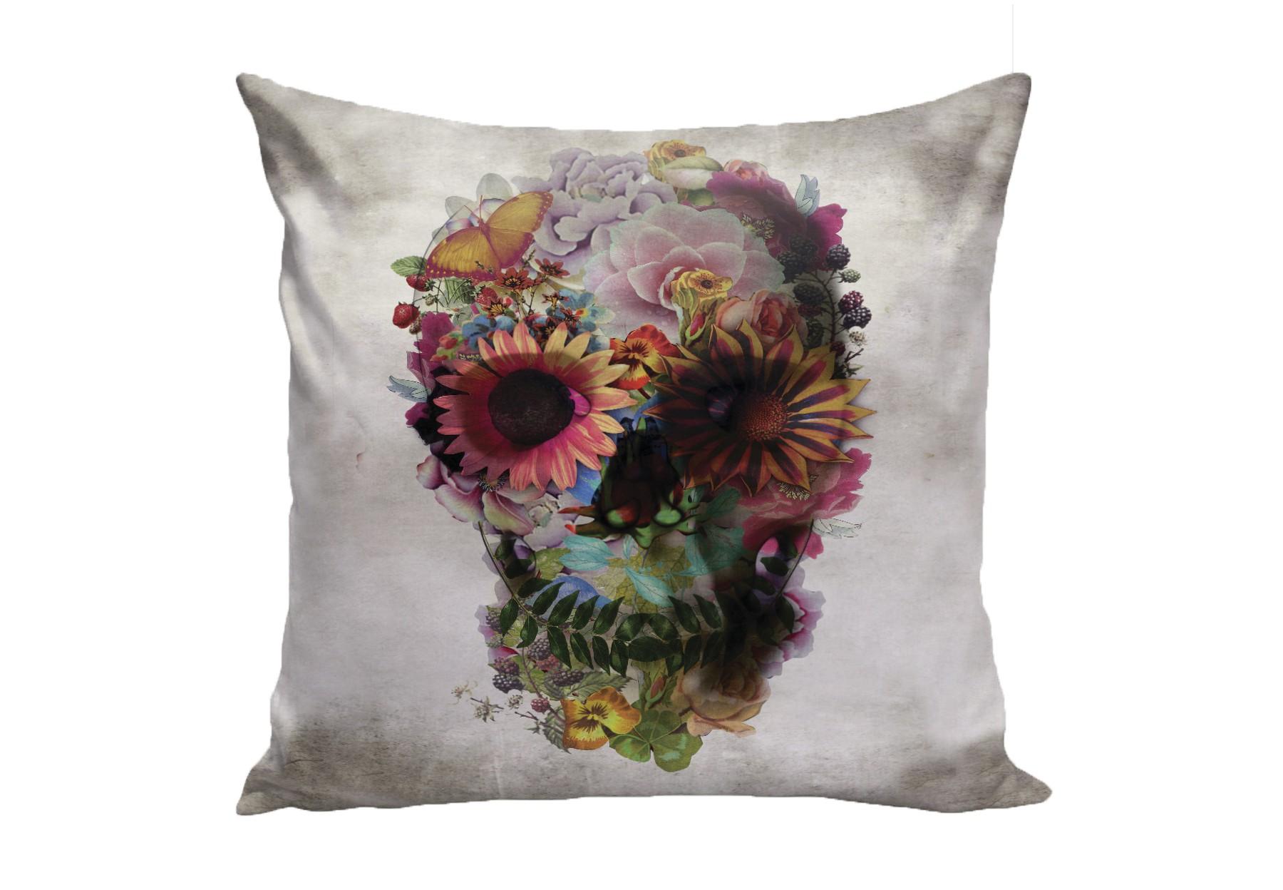 Подушка Flower Skull by Ali GulecКвадратные подушки и наволочки<br>&amp;lt;div&amp;gt;Подушка изготовлена из мягкой, бархатистой ткани микровелюр, которая отлично пропускает воздух, отталкивает пыль и долго сохраняет изначальный цвет, не протираясь и не выцветая.&amp;amp;nbsp;&amp;lt;/div&amp;gt;&amp;lt;div&amp;gt;&amp;lt;br&amp;gt;&amp;lt;/div&amp;gt;&amp;lt;div&amp;gt;Можно подобрать ткань на Ваш вкус из других коллекций.&amp;lt;/div&amp;gt;<br><br>Material: Велюр<br>Ширина см: 40<br>Глубина см: 40
