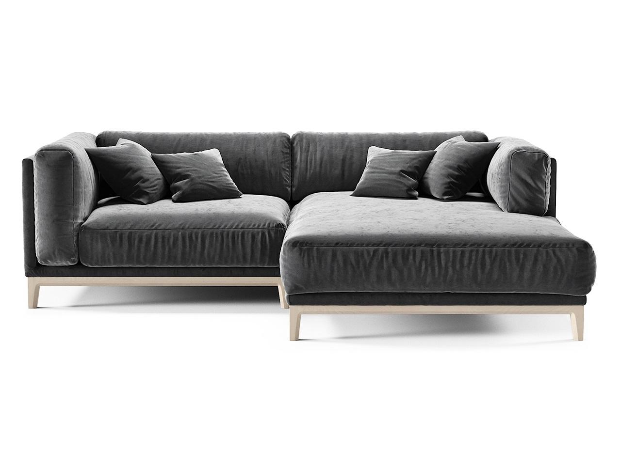 The idea диван case (беленая береза, микровелюр) серый 81061/1