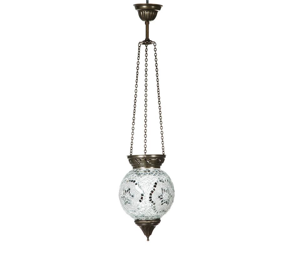 Подвес белыйПодвесные светильники<br>Ручная работа. Стеклянная мозаика и латунь.<br><br>Material: Стекло