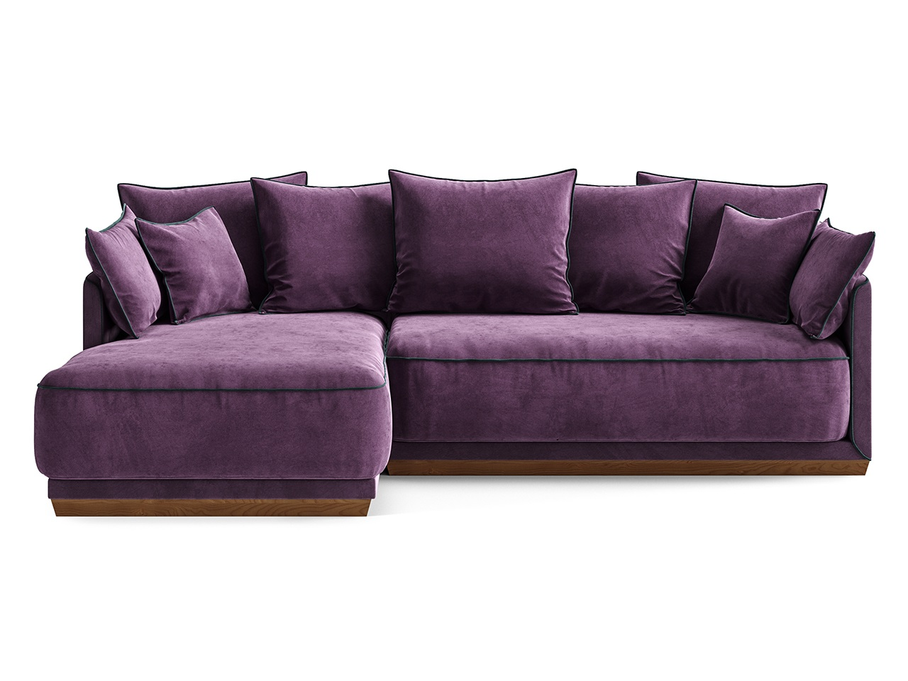 """Купить Диван """"soho"""" (The idea) фиолетовый текстиль 248x92x162 см. 81093 в интернет магазине. Цены, фото, описания, характеристики, отзывы, обзоры"""