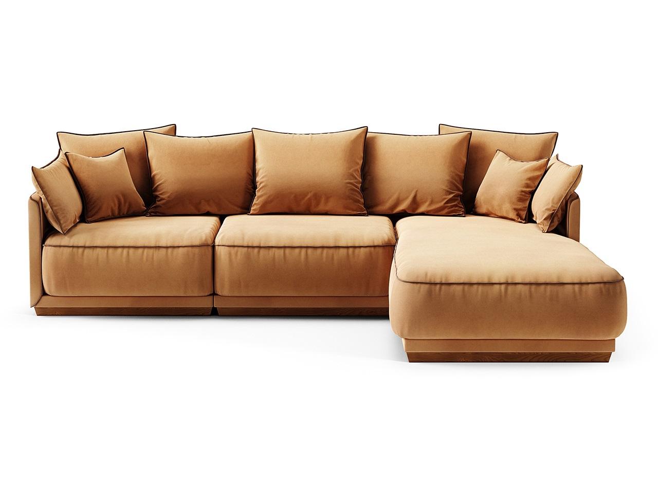 Диван soho (the idea) коричневый 282x92x195 см. фото