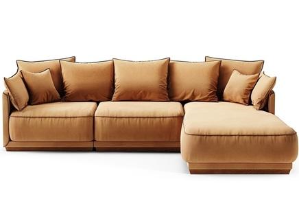 Диван soho (the idea) коричневый 282x92x195 см.