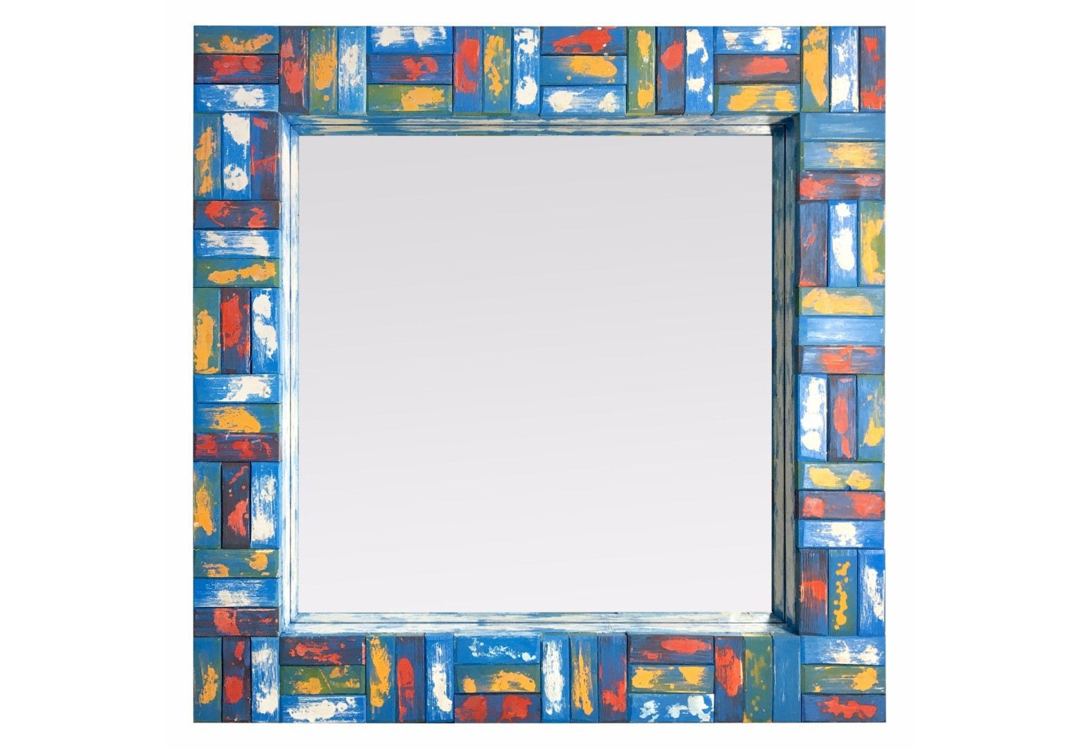 Зеркало Vivo MidiНастенные зеркала<br>Эти зеркала - наш эксперимент в своем роде. Нам захотелось привнести солнца и красок в пасмурный день. Они уникальны тем, что рама каждого состоит из мелких элементов, собранных воедино как пазл. Каждая деталь из массива дерева вручную выпиливалась, декорировалась и с ювелирной точностью выкладывалась руками наших мастеров. За жизнерадостный стиль мы назвали эту серию ViVo от испанского живой. Сочный дизайн удивляет яркими оттенками, создающими красочное единство. Центральное зеркальное полотно посажено вглубь. Этот прием позволяет придать зеркалу объем и дополнительное боковое отражение. Зеркала ViVo добавят в ваше пространство энергию, радость и наполнят жизнью.&amp;nbsp;Возможно изготовление по Вашим цветам и размерам.Материал:                     массив дерева        .Ширина рамы 12 см.<br><br>kit: None<br>gender: None